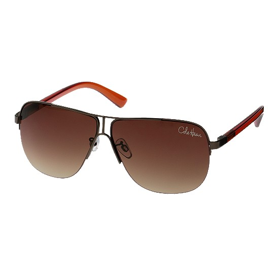 Cole Haan Metal Rimless Square Sunglasses Brown