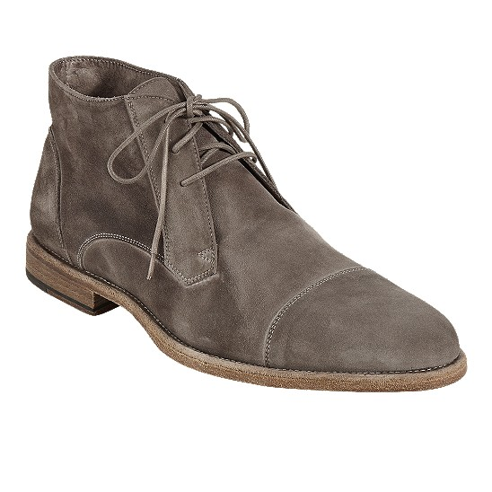 Cole Haan Vincenti Cap-Toe Boot Fossil Suede