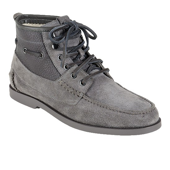 Cole Haan Air Yacht Club Boot Charcoal Suede/Charcoal