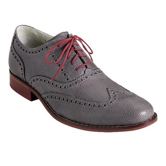 Cole Haan Air Colton Casual Wingtip Oxford Iron Textured
