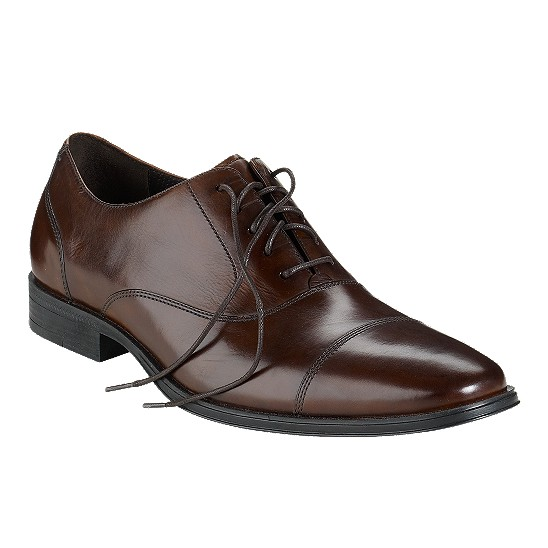 Cole Haan Air Adams Cap Toe Oxford Dark Brown