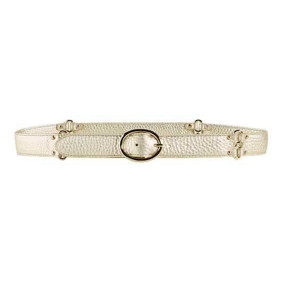 Cole Haan Village Double Ring Belt White Gold