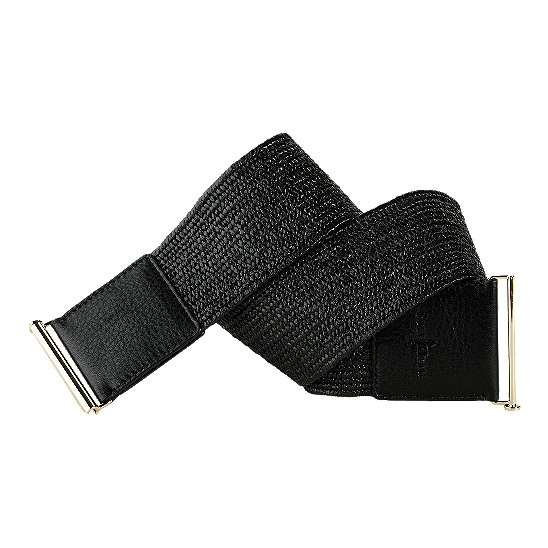 Cole Haan Jitney Stretch Straw Belt Black