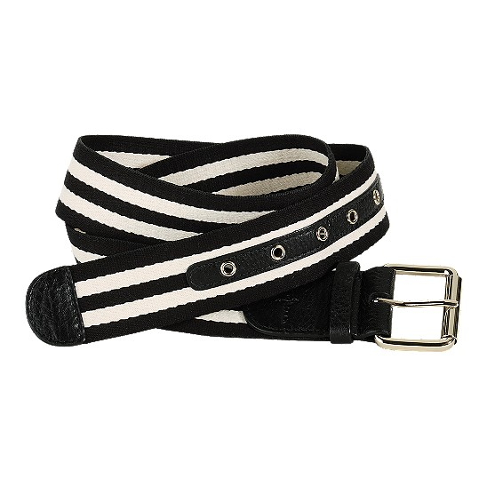Cole Haan Webbing Belt Black/Ivory