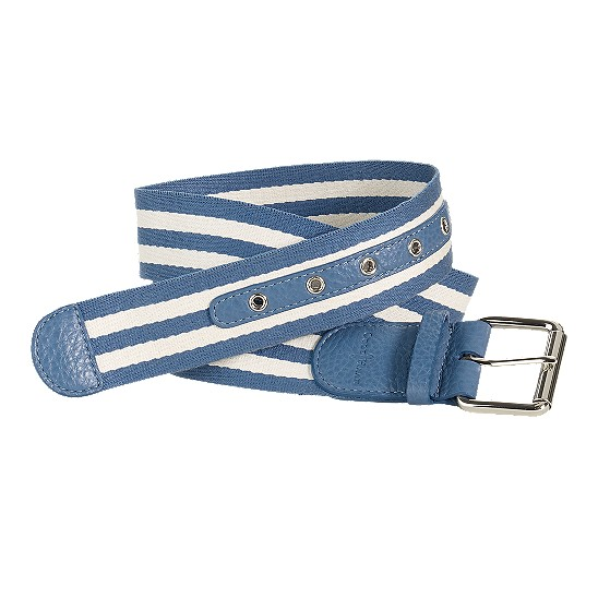 Cole Haan Webbing Belt Harbour Blue/Ivory