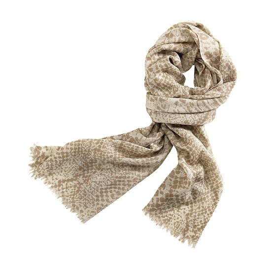 Cole Haan Python Print Scarf White Pine/Cove