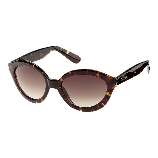 Cole Haan Glamour Oval w/Logo Sunglasses Tortoise