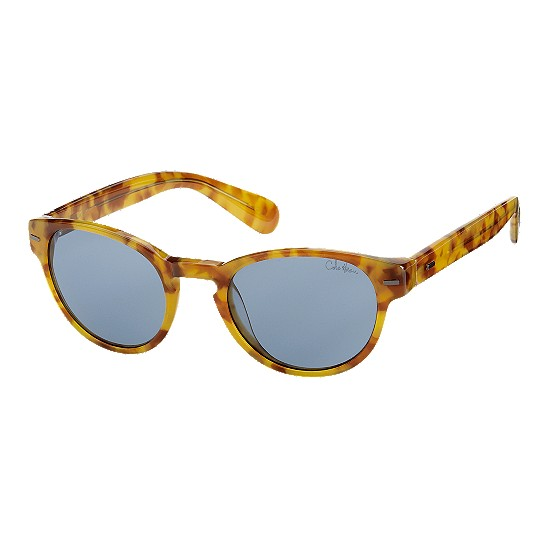Cole Haan Acetate Round Keyhole Bridge Sunglasses Honey