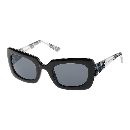 Cole Haan Bold Rectangle w/Logo Sunglasses Black