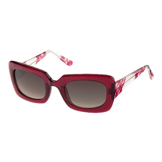 Cole Haan Bold Rectangle w/Logo Sunglasses Red