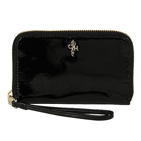 Cole Haan Jitney Electronic Wristlet Black Patent