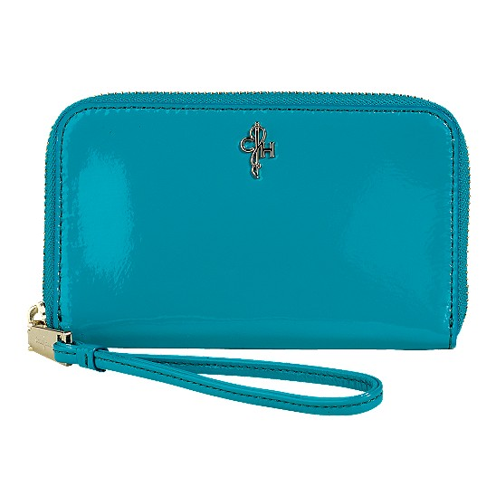 Cole Haan Jitney Electronic Wristlet Caribbean Patent