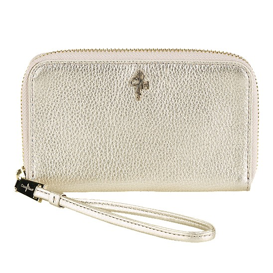 Cole Haan Jitney Electronic Wristlet White Gold