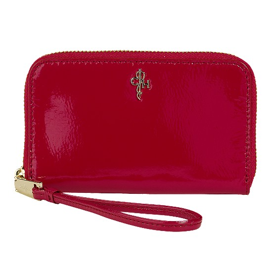 Cole Haan Jitney Electronic Wristlet Tango Red Patent