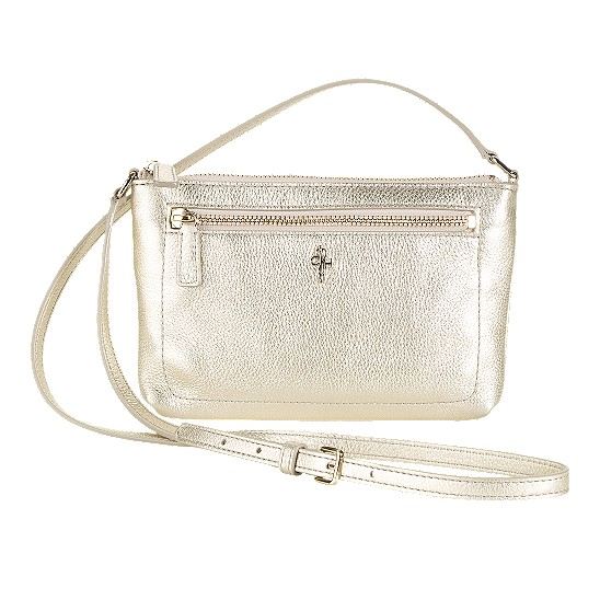Cole Haan Jitney Ali Mini Crossbody White Gold