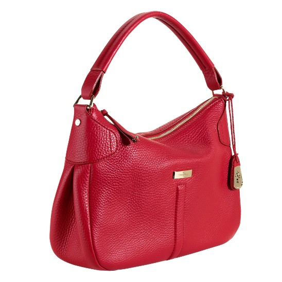 Cole Haan Village Small Rounded Hobo Tango Red
