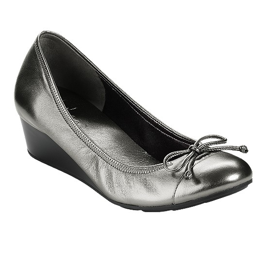 Cole Haan Air Tali Wedge Dark Silver Metallic