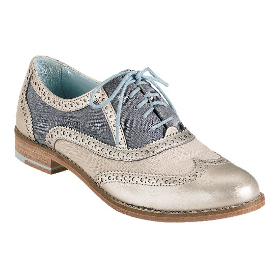 Cole Haan Skylar Oxford White Gold/Chambray/White Pine Linen