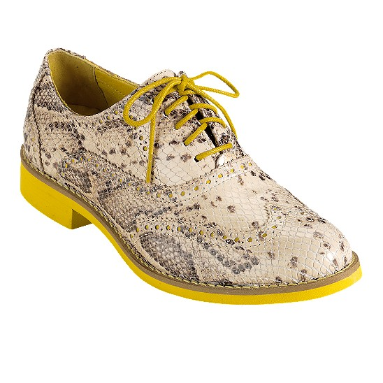Cole Haan Alisa Oxford Cream Snake Print/Sunflower