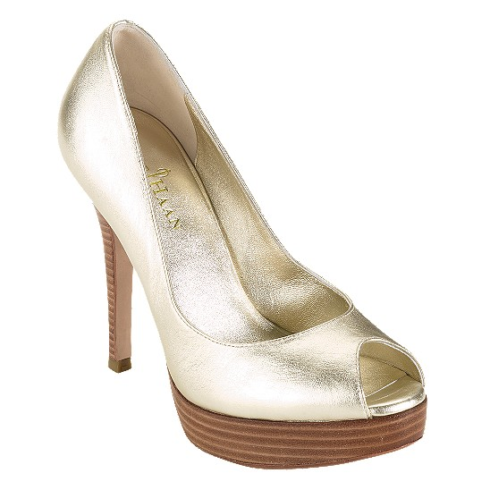 Cole Haan Mariela Air Open Toe Pump Soft Gold Metallic