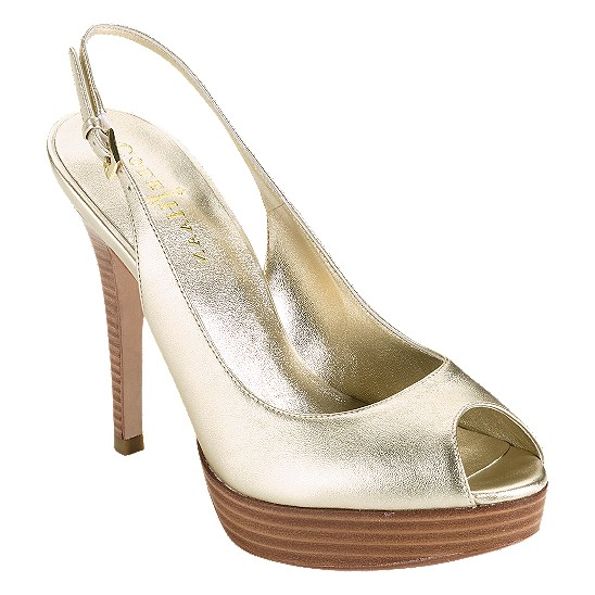 Cole Haan Mariela Air Open Toe Sling Soft Gold Metallic