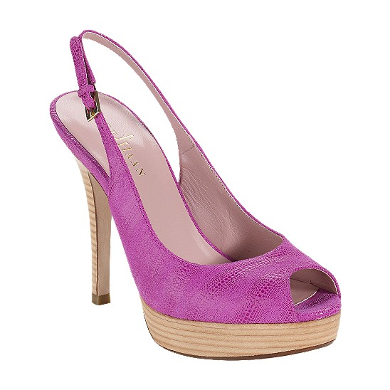 Cole Haan Mariela Air Open Toe Sling Beet Exotic Print