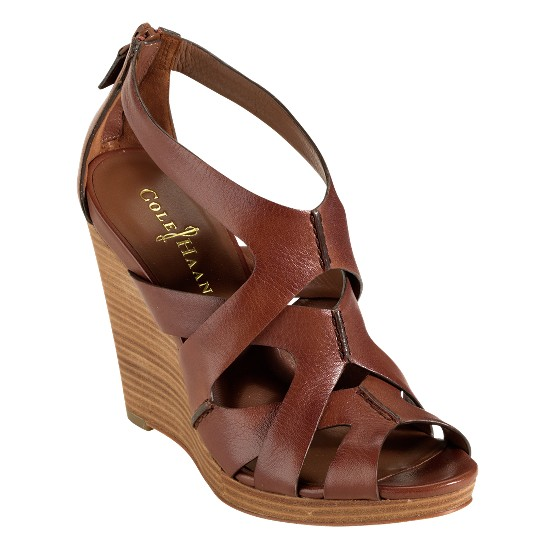 Cole Haan Air Kimry Open-Toe Wedge Sequoia