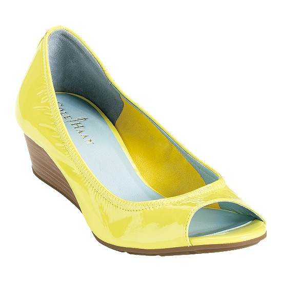 Cole Haan Air Tali Open Toe Wedge 40 Chickadee Patent