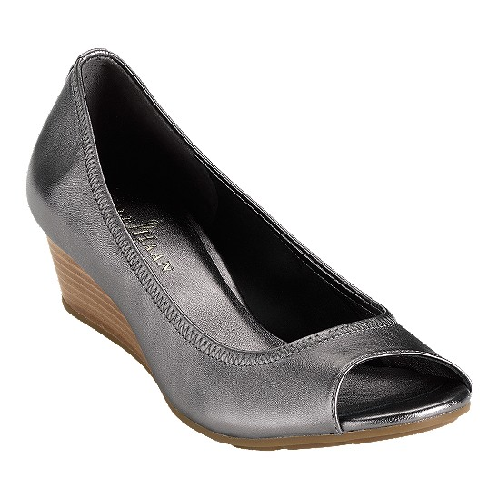 Cole Haan Air Tali Open Toe Wedge 43 Dark Silver