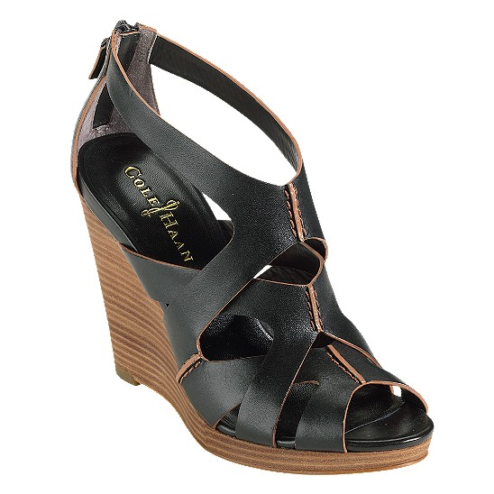 Cole Haan Air Kimry Open-Toe Wedge Black