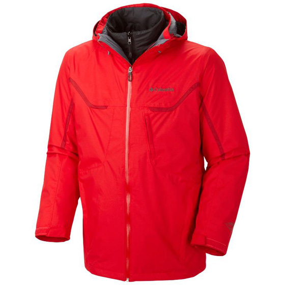 COLUMBIA MENS BUGABOO™ INTERCHANGE JACKET BRIGHT RED