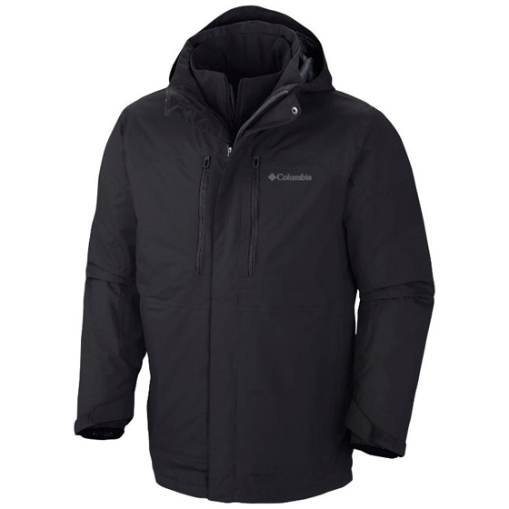 COLUMBIA MENS SUMMIT CREST™ INTERCHANGE JACKET BLACK