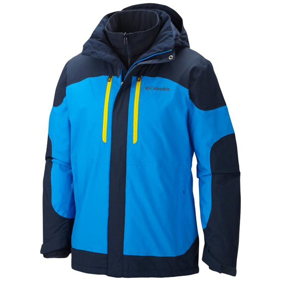 COLUMBIA MENS SUMMIT CREST™ INTERCHANGE JACKET HYPER BLUE