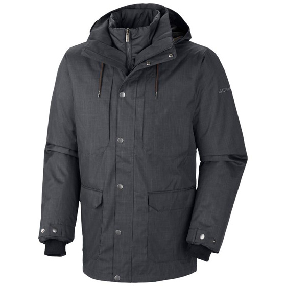 COLUMBIA MENS HORIZONS PINE INTERCHANGE JACKET GRAPHITE