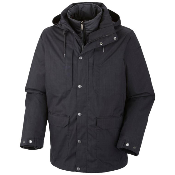 COLUMBIA MENS HORIZONS PINE INTERCHANGE JACKET BLACK