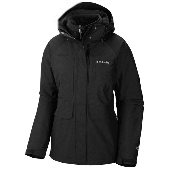 COLUMBIA WOMENS PORTLAND EXPLORER™ INTERCHANGE JACKET BLACK