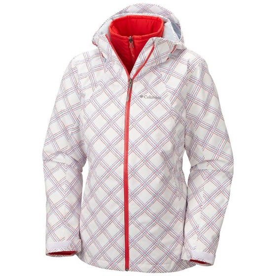 COLUMBIA WOMENS WHIRLIBIRD™ INTERCHANGE JACKET WHITE PRINT