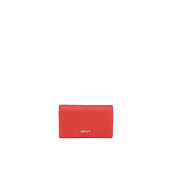CORAL DKNY SAFFIANO LEATHER MEDIUM CARRYALL