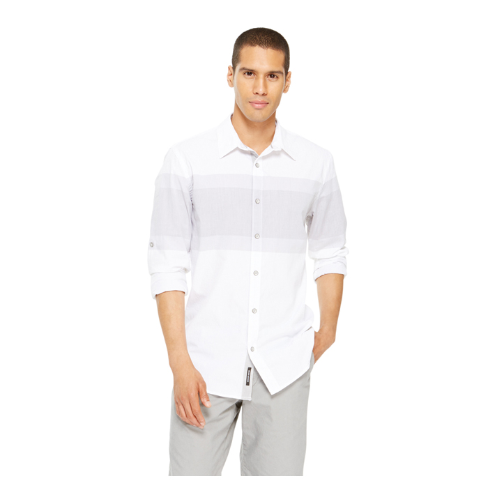 WHITE DKNY JEANS STRIPE SHIRT