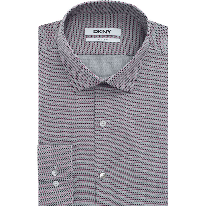TEA ROSE DKNY MULTI PIN DOT DRESS SHIRT