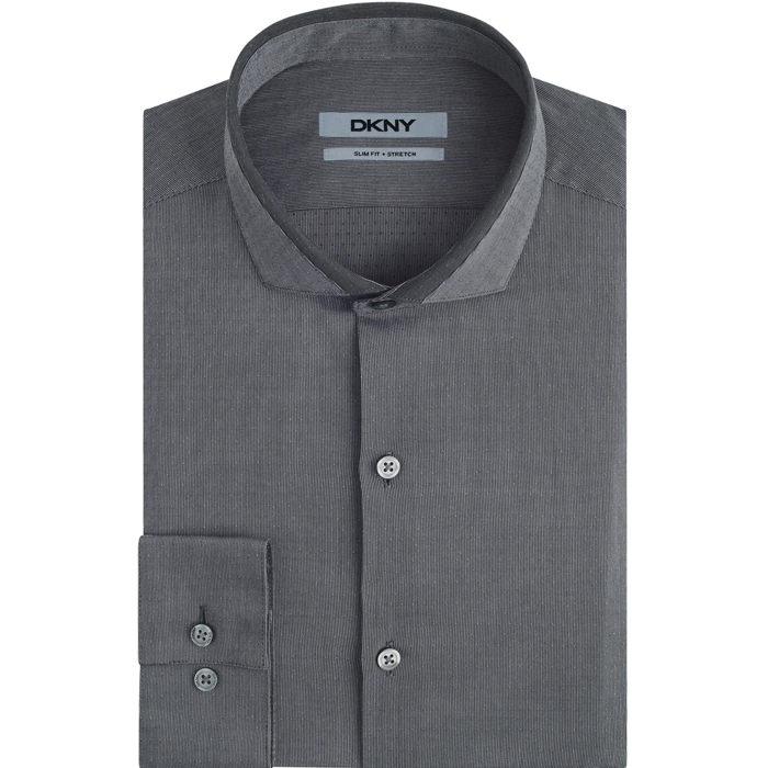 CARBON DKNY CUTAWAY COLLAR DRESS SHIRT