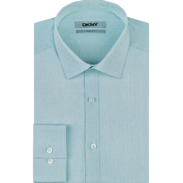 AQUAMARINE DKNY HOWARD SPREAD CLASSIC DRESS SHIRT