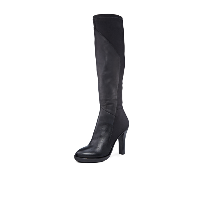 BLACK DKNY PASCAL KNEE HIGH BOOT