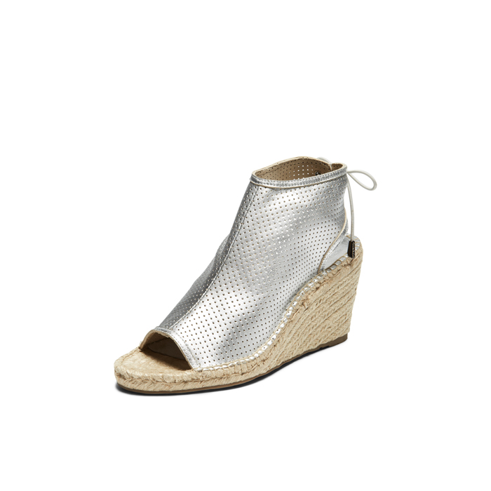 SILVER DKNY DIANE LACE UP BOOTIE