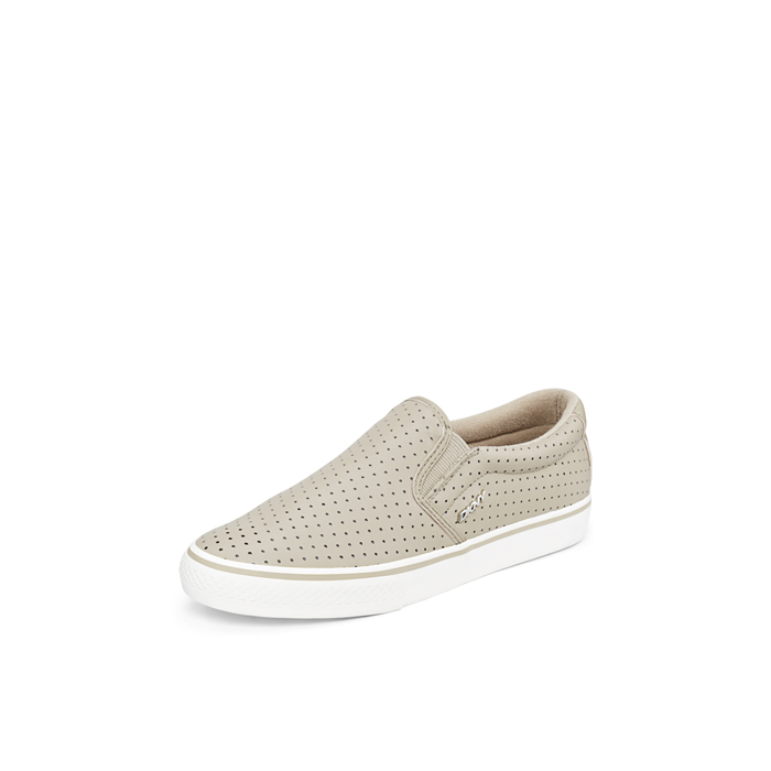 LIGHT SURPLU DKNY BETH PERFORATED LEATHER SNEAKER
