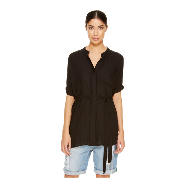 BLACK DKNY -INTERNATIONAL- JEANS BOXY TUNIC