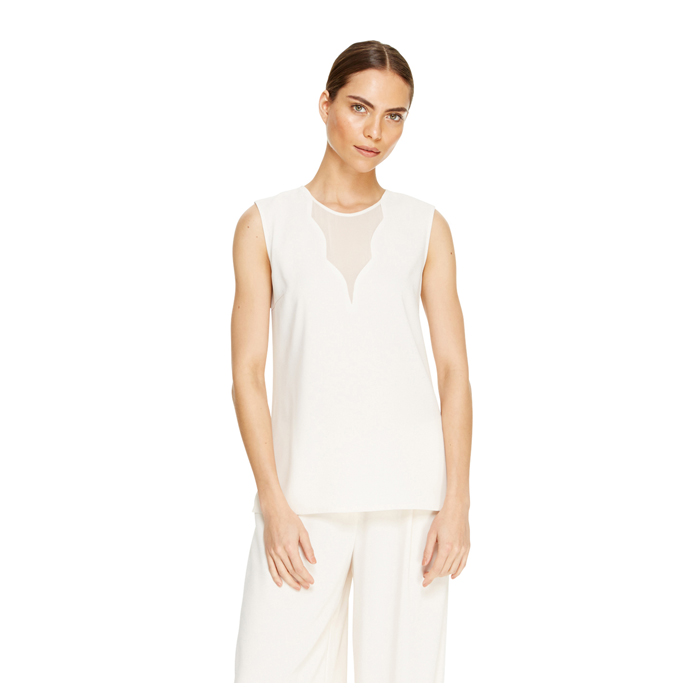 MUSLIN DKNY SLEEVELESS V-NECK TOP