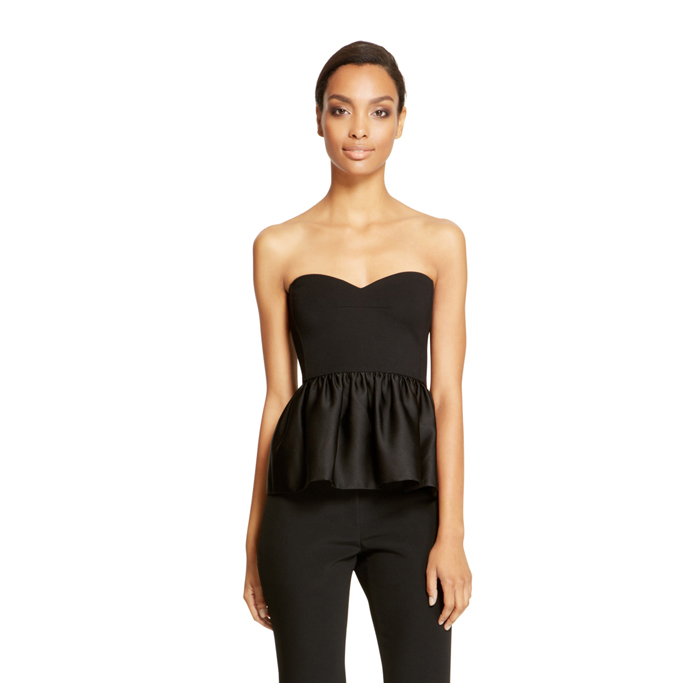 BLACK DKNY STRAPLESS SWEETHEART TOP