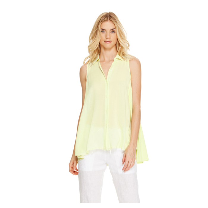 SUNBEAM DKNY DKNYPURE DRAPEY BUTTON THRU TOP