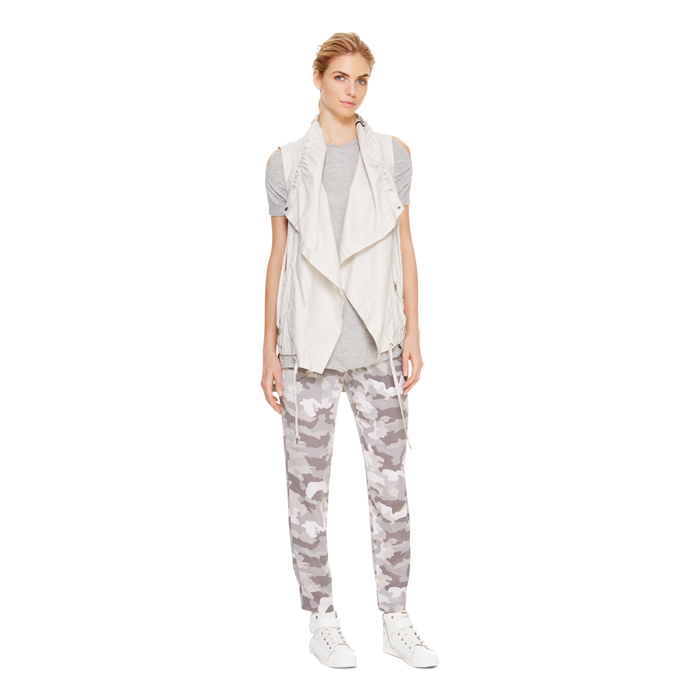 STONE DKNY DKNYPURE COATED OPEN FRONT VEST